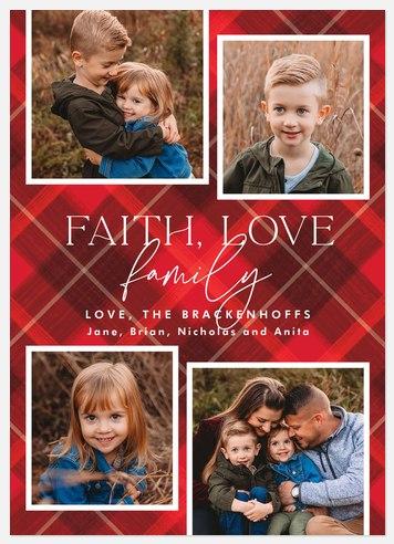 Faithful Argyle Holiday Photo Cards