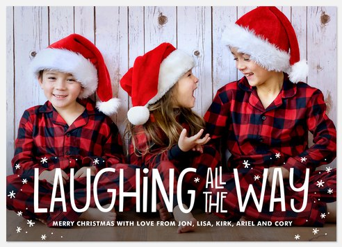 Laughing All The Way Holiday Photo Cards