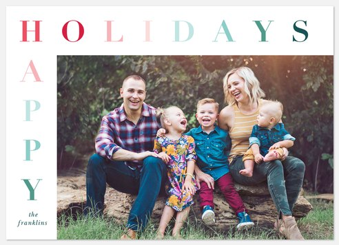 Ombre Lettering Holiday Photo Cards