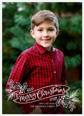Holly Aglow Holiday Photo Cards