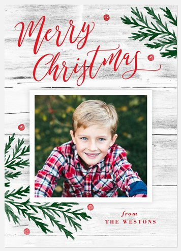 Winter Rustic Holiday Photo Cards