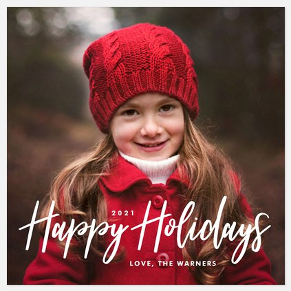 Wishing Happiness Holiday Photo Cards