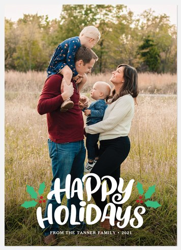 Festive Overlay Holiday Photo Cards