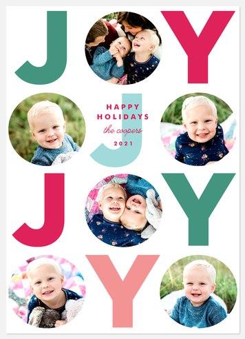Joy Grid Holiday Photo Cards