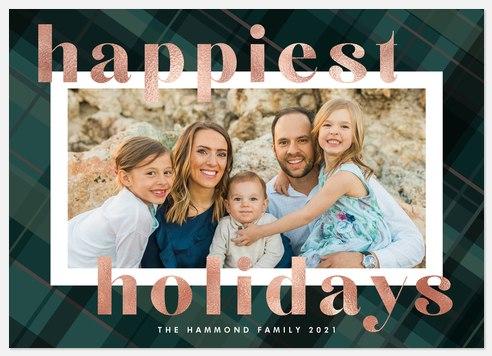 Posh Plaid Holiday Photo Cards