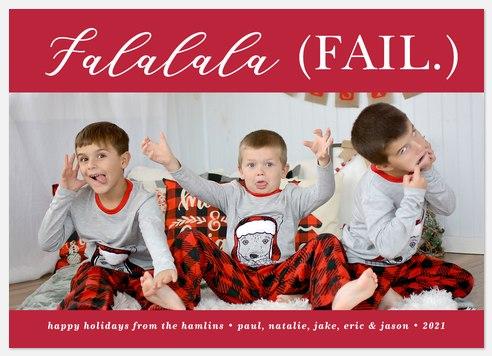 Falala Fail Holiday Photo Cards