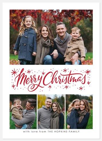 Peppermint Flourish Holiday Photo Cards