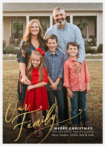 Our Family Holiday Photo Cards