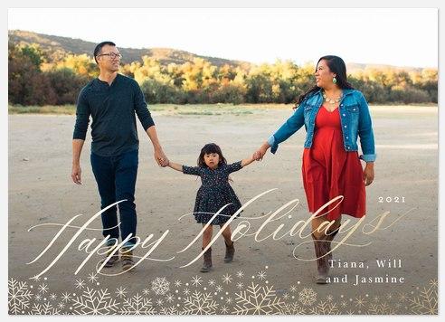 Snow Elegance Holiday Photo Cards