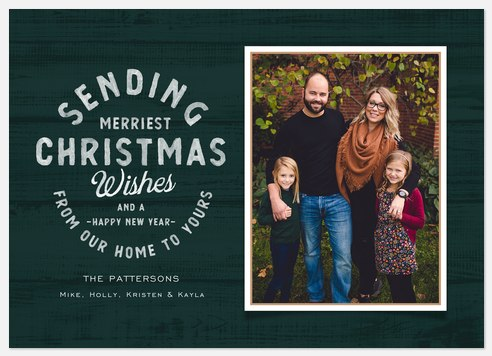 Cabin Wishes Holiday Photo Cards