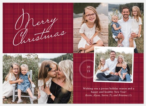 Winter's Flannel Holiday Photo Cards