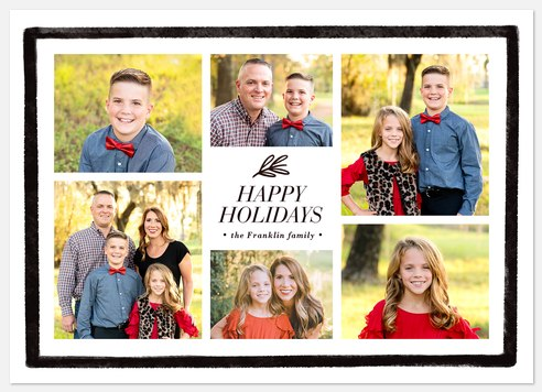Painted Border Holiday Photo Cards