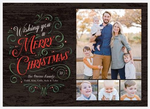 Flourished Holiday Photo Cards