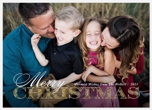 Glimmer Flourish Holiday Photo Cards