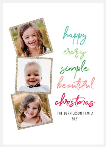Crazy Beautiful Holiday Photo Cards