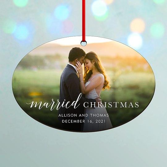 Married Christmas Custom Ornaments
