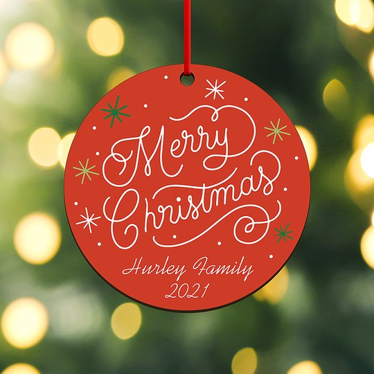 Christmas Icing Custom Ornaments