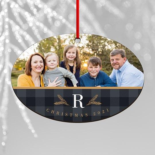 Family Plaid Custom Ornaments