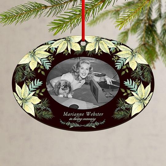 Poinsettia Memories Custom Ornaments